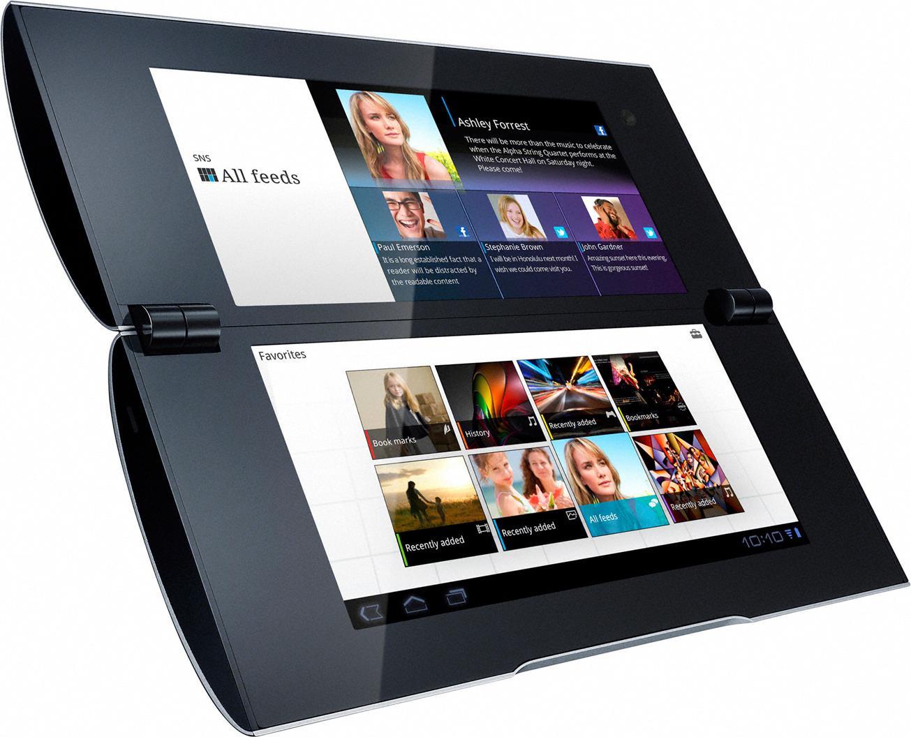 Инновационные планшеты с двумя дисплеями Sony